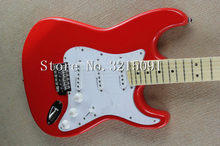 free shipping Top quality New Arrival stratocaster Guitar red Electric Guitar Real photo maple fingerboard(China)