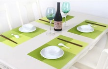 WALFOS 2 piece PVC Placemat Dining Tables Mats Bar Mat kitchen accessories dining table mat bowl pad Table Decoration
