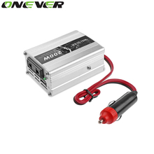 Onever 1pc 200W Car Power Inverter Converter DC 12V to AC 220V Modified Sine Wave Power with USB 5V Output Car Styling Charger