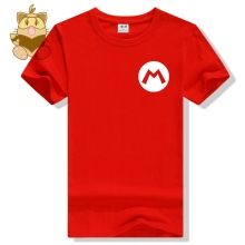 Super Mario Bros cotton tee shirt high quality game fans Mario Wario Luigi Waluigi character logo mini logo printing AC480