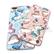 LACK Cute Rainbow Unicorn Cases For iPhone 7 Case For iphone 7 PLus Fashion Matte Hard Back Cover Phone Cases Cartoon Horse Capa(China)