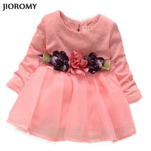 JIOROMY 2017 winter newborn fancy infant baby dresses girl frocks designs party wedding with long sleeves dresses