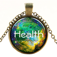 Retro HEALTH Tree Of Life Pendant Chain Necklace Bronze(China)