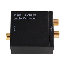Digital Optical To Analog RCA Audio Converter Adapter USB Power Line Fiber Cable Portable