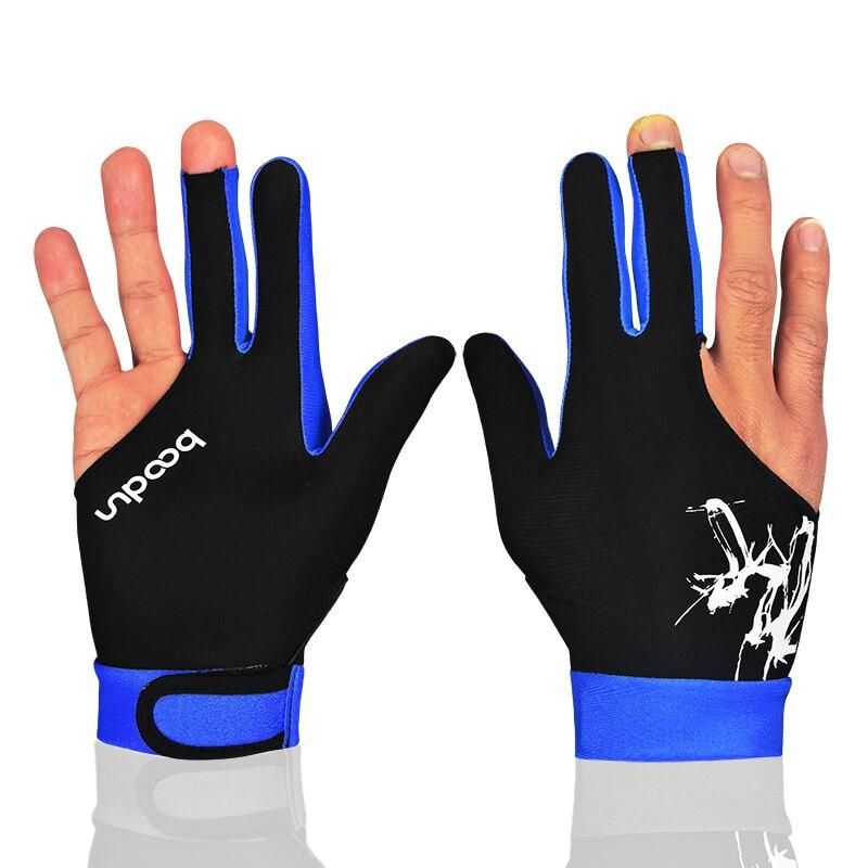 3 Fingers Elastic Shooters Black Cue Accessory Glove YO-YO Billiard Snooker