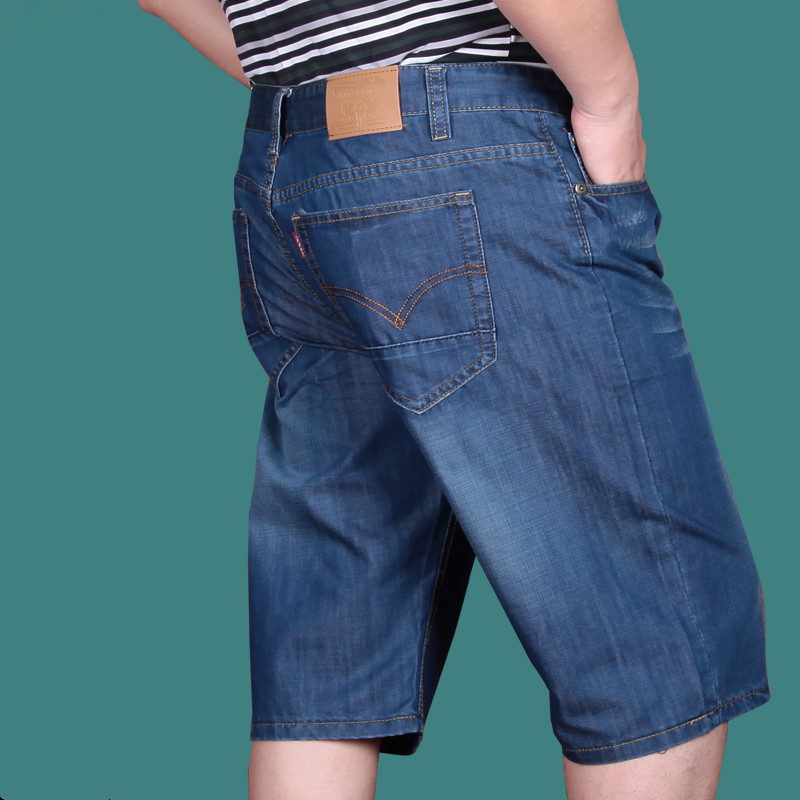 Free shipping Summer thin loose plus size mens clothing denim shorts Knee Length Lightweight Straight Jean size 28-52Одежда и ак�е��уары<br><br><br>Aliexpress