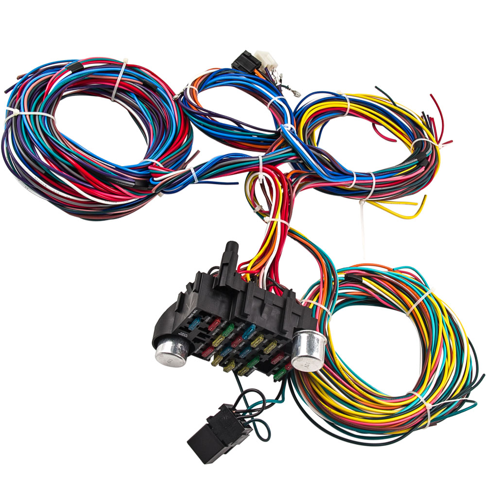 Universal 21 Circuit Wiring Kit Harness For Mopar Ford street Hot rod