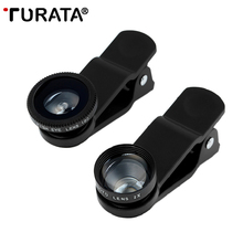 Buy Turata 5 1 Fish Eye Lens Clip-on Phone Camera 180 Degree Fisheye Lens+Wide Angle+Macro Lens iphone 7 6S 6 5S SE Huawei T3 for $10.51 in AliExpress store