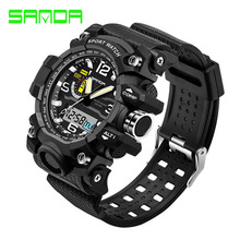 Fashion Waterproof Mens Sports Watches Relogio Masculino 2016 Men Silicone Sport Watch Shockproof Electronic Wristwatch