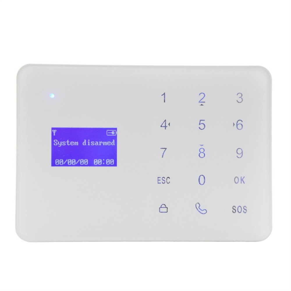 YA-700-GSM GSM Alarm System Set LCD Alarm Panel Home Security Alarm Host Built-in Artificial Intelligent English Message<br>