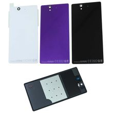 10Pcs Battery Cover Back Lid Glass Door With Glue Sticker For Sony Xperia Z L36H C6602 C6603