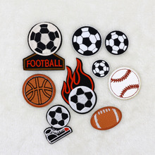 9PCS NEW Football basketball soccer Design Iron On Sewing Embroidered Patches Cloth Badge Garment Motif Appliques DIY Accessory