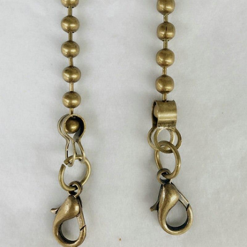 Purse Shoulder Cross Body Handbags Replacement Chain Strap (Black Luxury Chain)