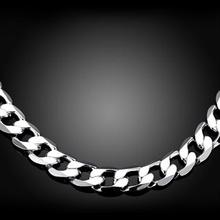 925 Silver   Men Figaro Chain Necklace For Men Silver 925 Jewelry Statement Necklace