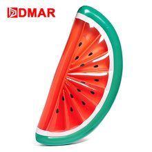 DMAR Giant Inflatable Watermelon Pool Float Mattress Sunbathe Beach Mat Air Swimming Ring Swimming Circle Beach Sea Party Toys