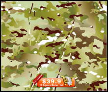 Free Shipping!NO.HFJ073,Width 50cm 20m length, green camouflage leaves hydrographics Water Transfer Printing Film Hydrographic