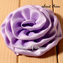 "(120pcs/lot) 3.2""15 Colors Chic Hot Sale High Quality Fabric Soft Silk Rosette Flower For Pretty Girl Handband"