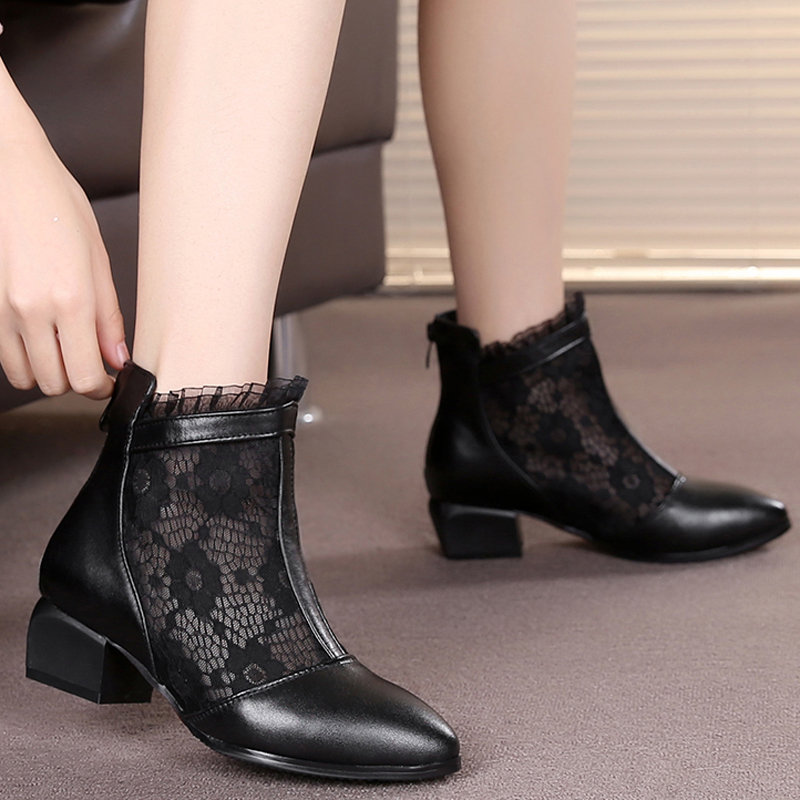Genuine Leather Women Boots Round Toe Martin Boots Lace Cool Shoes Sys-1103<br><br>Aliexpress