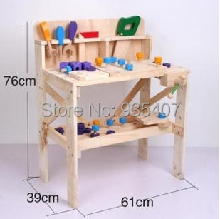 Wood Work bench New wooden toy Wooden blocks baby educational toy Baby gift<br>