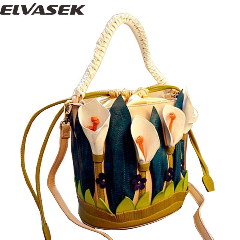 Elvasek new comes women handbags single shoulder bags women messenger bags female leather bag print crossbody bolsas LS7391<br>