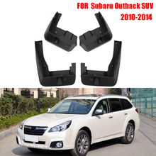 Dongzhen Car mudguard Fitment Splash Guards Mud Guards Mud Flaps For Subaru Outback SUV 2010-2014(China)