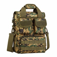 Tactics Travel Men Crossbody Shoulder Hike Messenger Bag Laptop Tote Molle Woodland Sustainment Bag