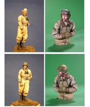 Unpainted Kit 1/35  US Winter Tank Crew Set (2 figures)  soldier   figure Historical WWII Figure Resin  Kit Free Shipping