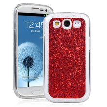 GrandEver Luxury Cases For Samsung Galaxy S3 Glitter Bling Back Cover Fashion Silvery Color For Samsung S3 Phone For Girl(China)