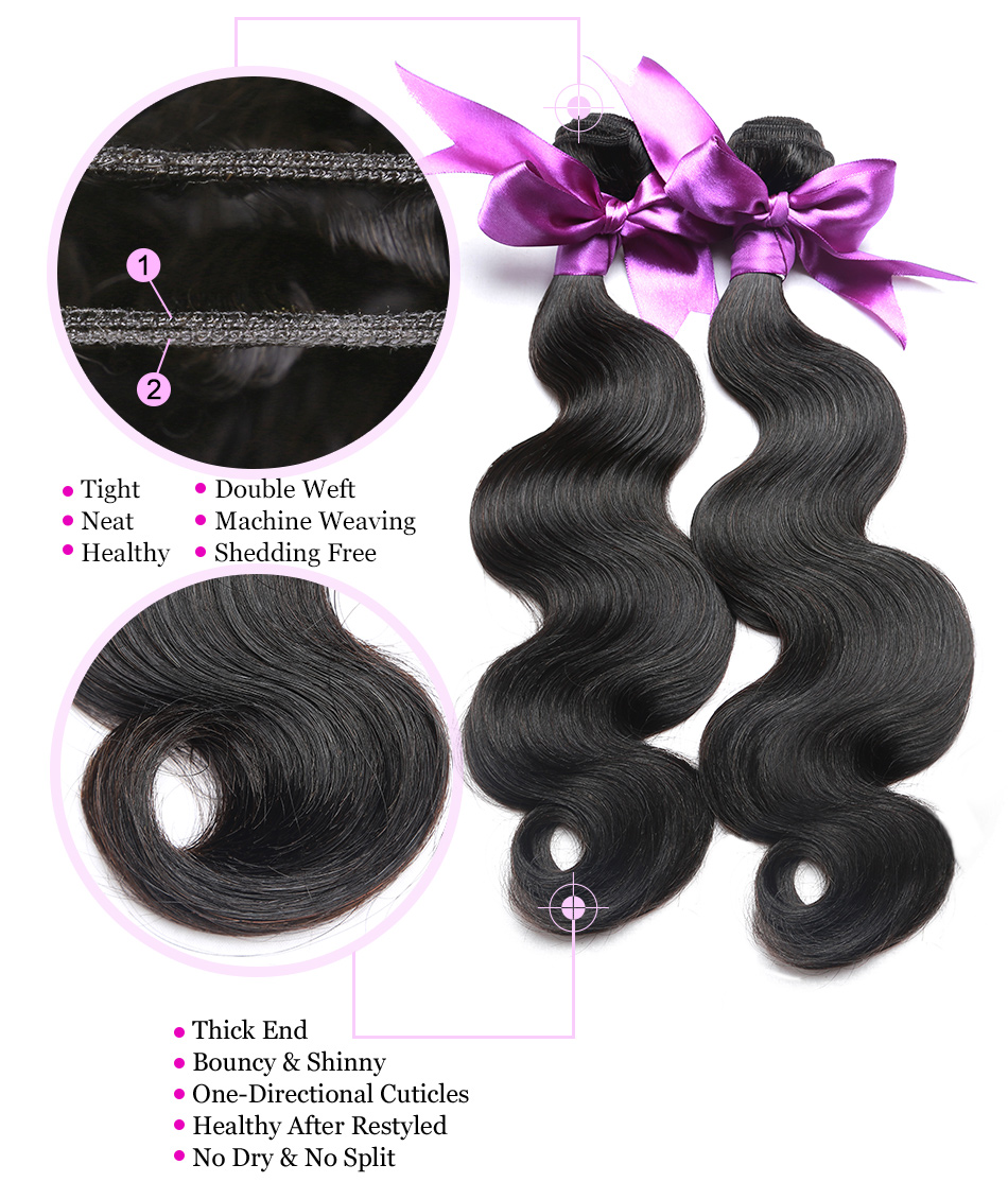 04 virgin peruvian hair bundles