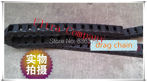 45*75*1000mm cable drag chain wire carrier /tanks chain/plastic towline with end connector can open<br><br>Aliexpress