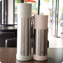 bap free TERMOS FLASK double wall VACUUM milk of NATURAL Green Wheat Straw PLASTIC BIODEGRADABLE  Drinking coffee Mugs