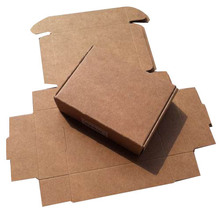 Free shipping wholesale 150pcs/lot 5.8*5.8*3.2cm 350G kraft paper box perfume packaging box candy wedding gift boxes
