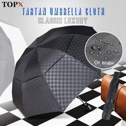 Ветрозащитный 3 складной зонтик дождь для женщин и мужчин двойной слой большой 10 к бизнес Зонты мужской темный сетка Paraguas семейный пляжный з...