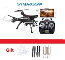 newest RC Drone SYMA X5SW 4CH 2.4G FPV with 2.0MP HD camera WiFi RC Quadcopter 6-Axis syma x5c upgraded version gift(China)