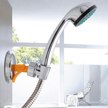 Universal Shower Rack Bathroom Suction Cup 360 Degree Rotatable Moving Shower Head Holder Adjustable Shelf Bracket Mount Storage