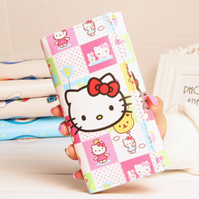 Women Wallets Brand Design Pink Cat Lady Purses Cards Holder Coin Purse Handbags Money Bag Long Clutch Female Wallet Girls Burse(China)