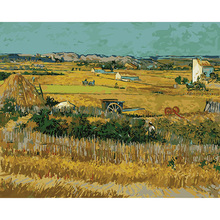 Bumper harvest Famous Abstract oil painting by Van Gogh wall art cuadros decoracion picture painting by numbers on canvas DY482(China)
