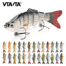VTAVTA Sinking Wobblers Fishing Lures 10cm 17.5g 6 Multi Jointed Swimbait Hard Artificial Bait Pike/Bass Fishing Lure Crankbait(China)