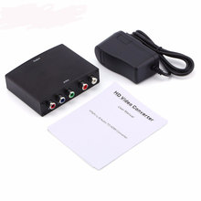 Component RGB YPbPr to HDMI Converter Video Audio Adapter YPbPr/RGB + R/L audio to HDMI AV