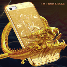 GKK Soft Phone Case For iphone 5 5s SE Case China Dragon Classical Electroplated TPU Fashion Coque 5 S Cover Funda Phone Cases