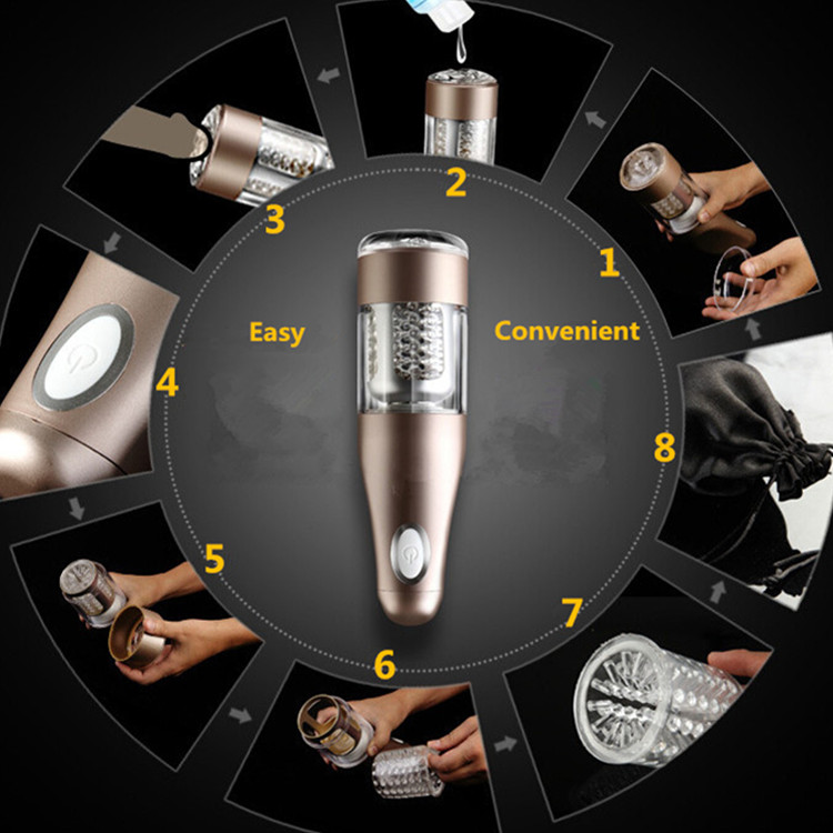 Automatic Electric Male Masturbator Machine Men Telescopic Rotation Masturbation Cup Sex Vagina Anal Sex Toys Sex Products
