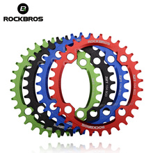 ROCKBROS Oval Round Bicycle Crank & Chainwheel 104BCD Wide Narrow Chain Ring 32T/34T/36T/38T Crankset MTB Bike Bicycle Parts(China)