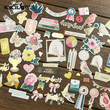 KSCRAFT 45pc Think Happy Cardstock Die Cuts for Scrapbooking Happy Planner/Card Making/Journaling Project