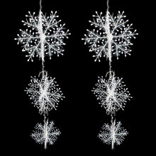 Good Xmas Christmas Tree Decorations White Snowflakes Plastic Artificial Snow Christmas Decorations for Home(China)