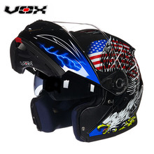 VOX Motorcycle Racing Flip Up Helmet Modular Helmet Double Lens Ricing Motor Casco Capacete Motor Full Face Helmet(China)
