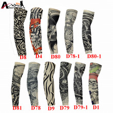 Sunscreen Arm Sleeves UV Protective Nylon Stretchy Skull Skeleton Cuff Sleeves Cycling Fishing Hiking Breathable Arm Stockings