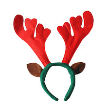 Christmas Gift New Year Snow Deer Headwear Hair Accessory Decoration Home Party Antlers Head Hoop Photo Props Ornaments For Kids