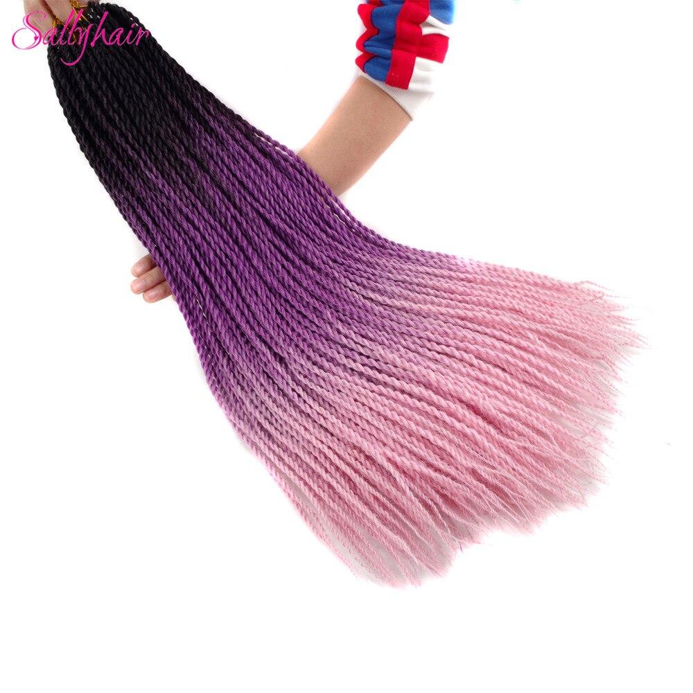 Ombre Color Senegal Twist Braids Crochet Braids Hair Extensions (58)_