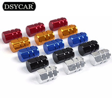 * DSYCAR 12Pcs/lot Universal Car Moto Bike Tire Wheel Valve Cap cover Car Styling for Fiat Audi Ford Bmw toyota VW Lada opel Kia(China)