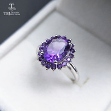 Tbj ,natural african amethyst lady gemstone ring,good luster amethyst ring for women in 925 silver gemstone jewelry,gift jewelry
